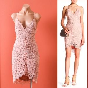 ASTR the Label Hi-Lo Lace Bodycon Dress XS